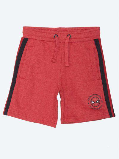 Kidsville Short For Boys Casual Printed Pure Cotton(Red, Pack of 1)