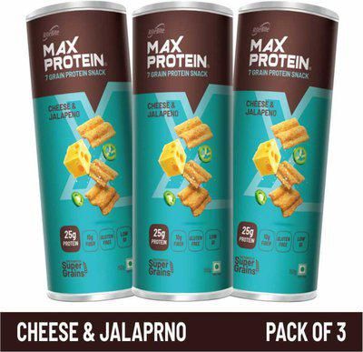 RiteBite Max Protein Chips - Cheese & Jalapeno 150g(Pack of 3) Chips(3 x 150 g)