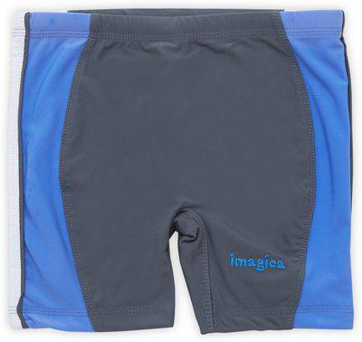 Imagica Short For Boys Sports Solid Nylon Blend(Grey, Pack of 1)