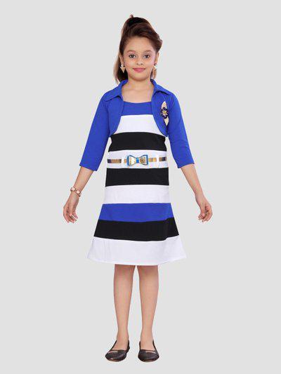 Aarika Girls Casual Dress Jacket(Blue)