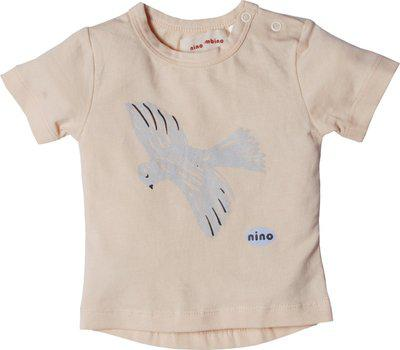 Nino Bambino Boys & Girls Printed Organic Cotton Blend T Shirt(Pink, Pack of 1)