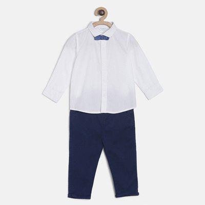 MINI KLUB Boys Casual Shirt Jeans(White)