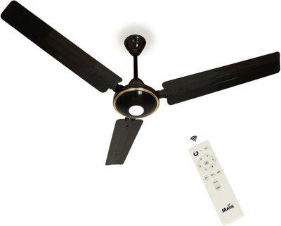 Maya Gabbar Decorative 1400 mm BLDC Motor with Remote 3 Blade Ceiling Fan(Glossy Black, Pack of 1)