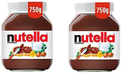 Nutella Chocolate Hazelnut Spread (Imported) (Pack of 2) 750 g(Pack of 2)
