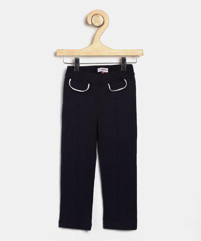 U.S. Polo Assn. Kids Regular Fit Girls Dark Blue Trousers