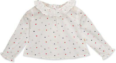 Budding Bees Baby Girls Casual Pure Cotton A-line Top(Multicolor, Pack of 1)