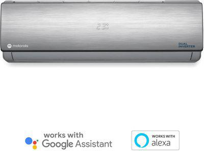 Motorola 1.5 Ton 3 Star Split Dual Inverter AC with Wi-fi Connect - Silver(MOTO153SIASMT, Copper Condenser)