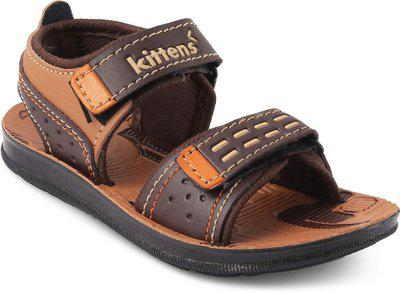 KITTENS Boys Velcro Flats(Brown)