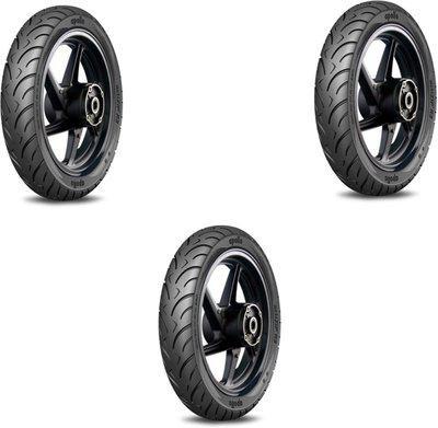 APOLLO bike-114 R3- 110 90-65 Front & Rear Tyre(Street, Tube Less)