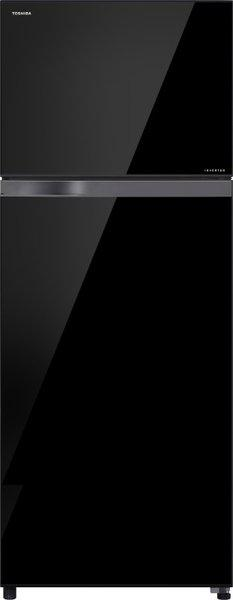Toshiba 445 L Frost Free Double Door Top Mount 2 Star (2020) Refrigerator(Black Glass, GR-AG46IN(XK))