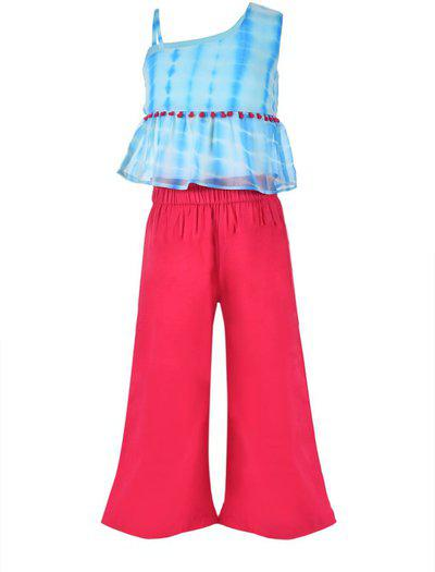 Stylo Bug Girls Casual Top Trouser(Blue)