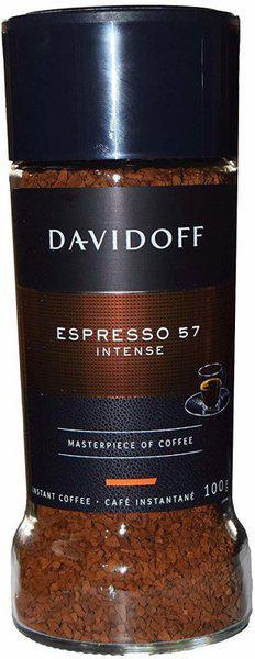 Davidoff Caf Espresso 57 Intense Instant Coffee Jar, Instant Coffee(100 g)