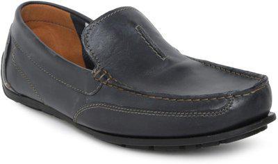 Clarks Men Black Solid Leather Sandals