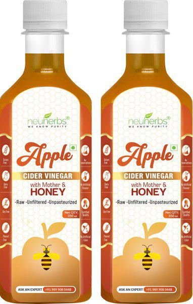Neuherbs Apple Cider Vinegar with Mother and Honey For Weight Loss Vinegar(700 ml, Pack of 2)