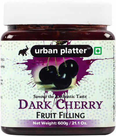 Urban Platter Dark Cherry Fruit Filling, 600g 600 g