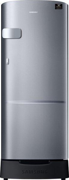 Samsung 192 L Direct Cool Single Door 4 Star (2020) Refrigerator with Base Drawer(Elegant Inox, RR20T1Z2XS8/HL)