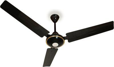 Maya Super Eco Tech Decorative 1200 mm BLDC Motor with Remote 3 Blade Ceiling Fan(Glossy Black, Pack of 1)