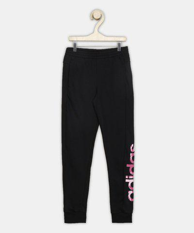 ADIDAS Track Pant For Girls(Black, Pack of 1)