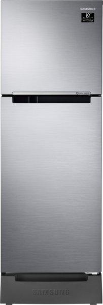Samsung 253 L Frost Free Double Door 2 Star (2020) Refrigerator with Base Drawer(Elegant Inox, RT28T3122S8/HL)