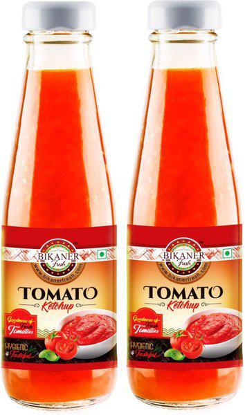 Bikaner Fresh Pack of 2 Tomato Ketchup, 1 kg Ketchup(1 kg)