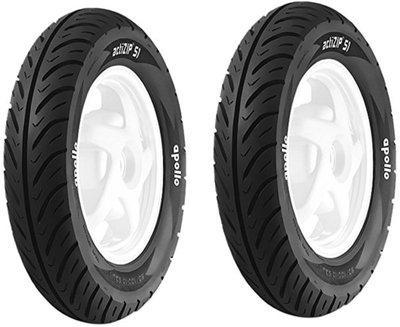 APOLLO Actizip S1 90 100-10 Tubeless Bike Tyre (Pack Of 2 ) AO 758480 120/70-10 Front & Rear Tyre(Street, Tube Less)