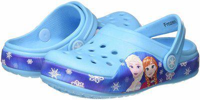 Frozen Girl's Sky Blue Clogs-10 Kids UK (28 EU) (FZPGMO2055)