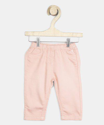Allen Solly Baby Girls Pink Trousers