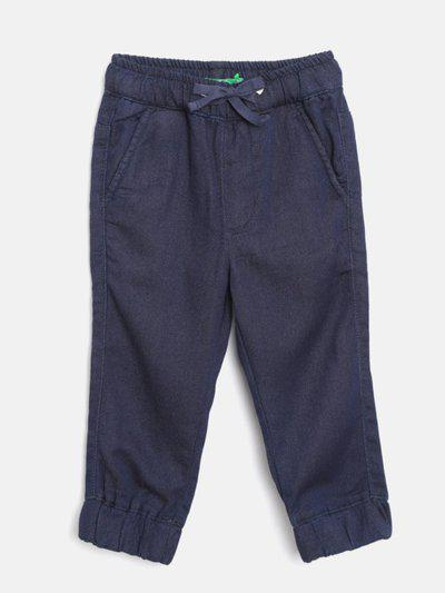 United Colors of Benetton Regular Fit Boys Dark Blue Trousers