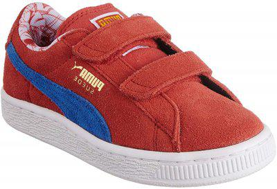 Puma Girl's Suede Superman V Kids High Risk Red-Blue-Buttercup Leather Chinese Shoes -