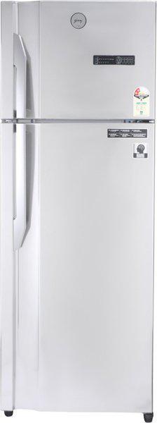 Godrej 350 L Frost Free Double Door Top Mount 2 Star (2020) Convertible Refrigerator(Steel Rush, RT EONVIBE 366B 25 HCIT ST RH)
