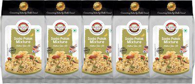 Bikaner Fresh Pack of 5 Sada Palak Mixture Hand Cooked Namkeen,(5 x 0.2 kg)