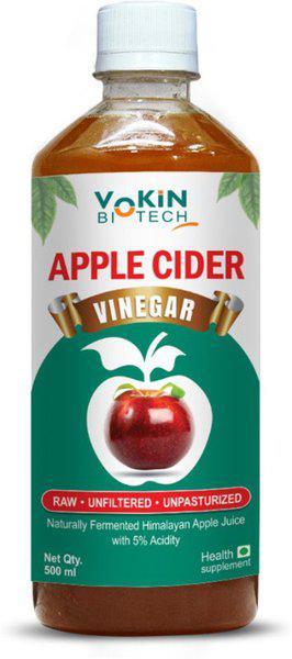 Vokin Biotech Raw,Unfiltered and unpasteurized Vinegar(500 ml)