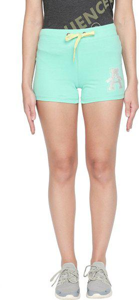 Ajile By Pantaloons Women Regular fit Cotton Solid Shorts - Green