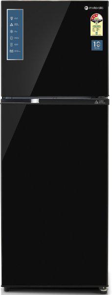 Motorola 308 L Frost Free Double Door 3 Star (2020) Refrigerator(Black UniGlass, 310JF3MTBG)