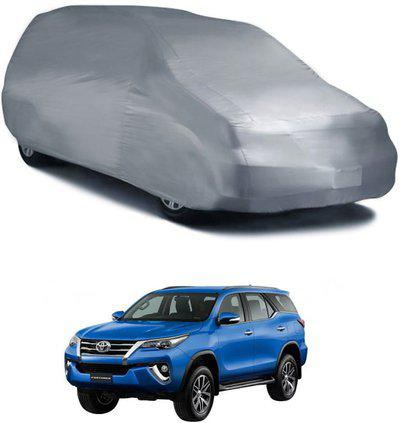 Deltakart Car Cover For Toyota Fortuner (Without Mirror Pockets)(Silver)