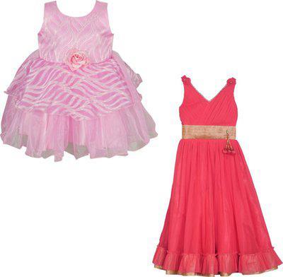 La Bele Girls Casual Dress Dress(Maroon)