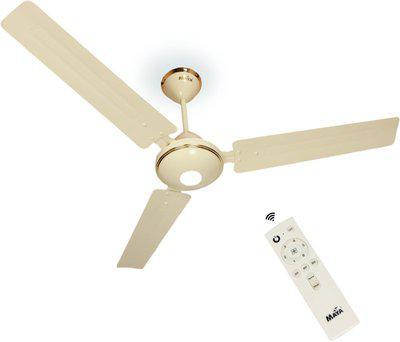 Maya Gabbar Decorative 1400 mm BLDC Motor with Remote 3 Blade Ceiling Fan(Glossy Ivory, Pack of 1)