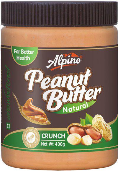 Alpino Natural Peanut Butter Crunch 400g 400 g