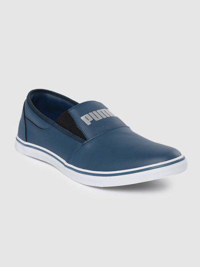 Puma Men Blue Slip-On Sneakers Slip On Sneakers For Men(Blue)