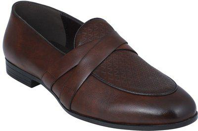 Pelle Albero Party Wear For Men(Brown)