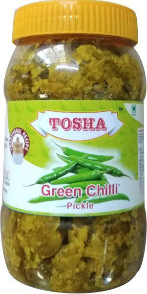TOSHA Green Chilli Pickle 300g Green Chilli Pickle(300 g)
