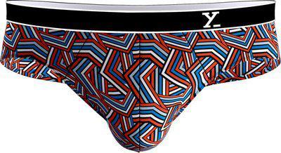 XYXX Men's Printed Brief (5 Set) (XYBRF5PCKN68XL3358_Camo Blue & Orange + Houndstooth+ Black + White + Grey_X-Large)