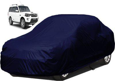 dzirejunction Car Cover For Mahindra Scorpio (Without Mirror Pockets)(Blue)
