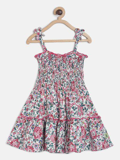 Tales & Stories Baby Girls Midi/Knee Length Casual Dress(Multicolor, Sleeveless)