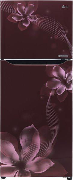 LG 260 L Frost Free Double Door 1 Star (2020) Refrigerator(Scarlet Orchid, GL-P292KSOR)
