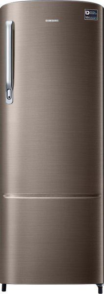 SAMSUNG 255 L Direct Cool Single Door 3 Star Refrigerator(Luxe Brown, RR26T373YDX/HL)