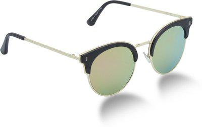 Vast Cat-eye, Retro Square, Butterfly Sunglasses(Pink, Golden)