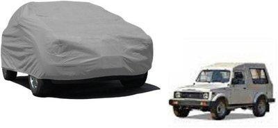 AMICO Car Cover For Maruti Suzuki Gypsy MG-410 (Without Mirror Pockets)(Grey)