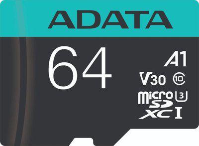 ADATA A2/U3/V30 64 GB MicroSD Card Class 10 100 MB/s Memory Card