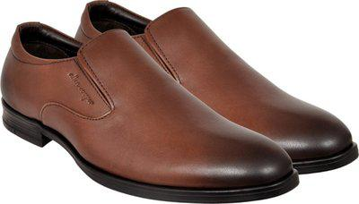 Allen Cooper Men Brown Solid Formal Slip-on Leather Shoes